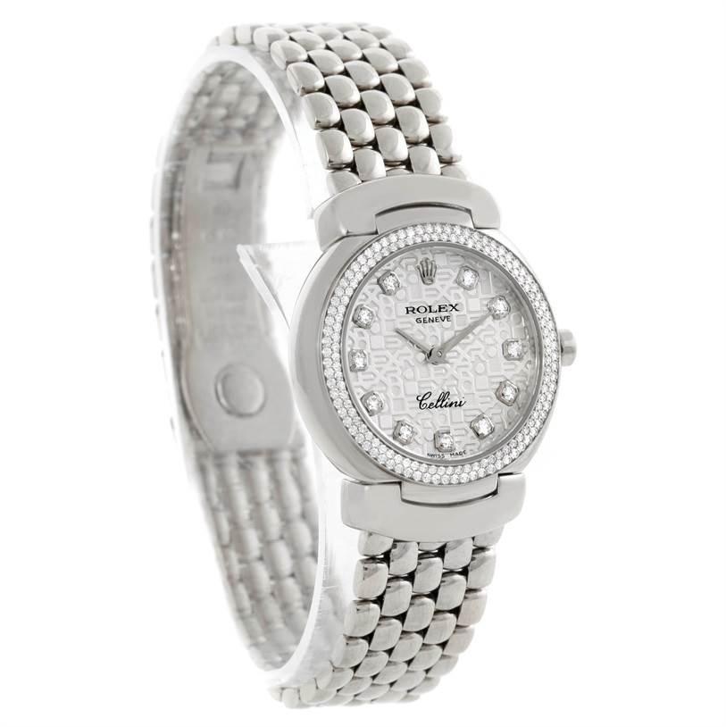 Cellini Diamond: Rolex Cellini Cellissima 18k Gold Diamond Ladies Watch 6671