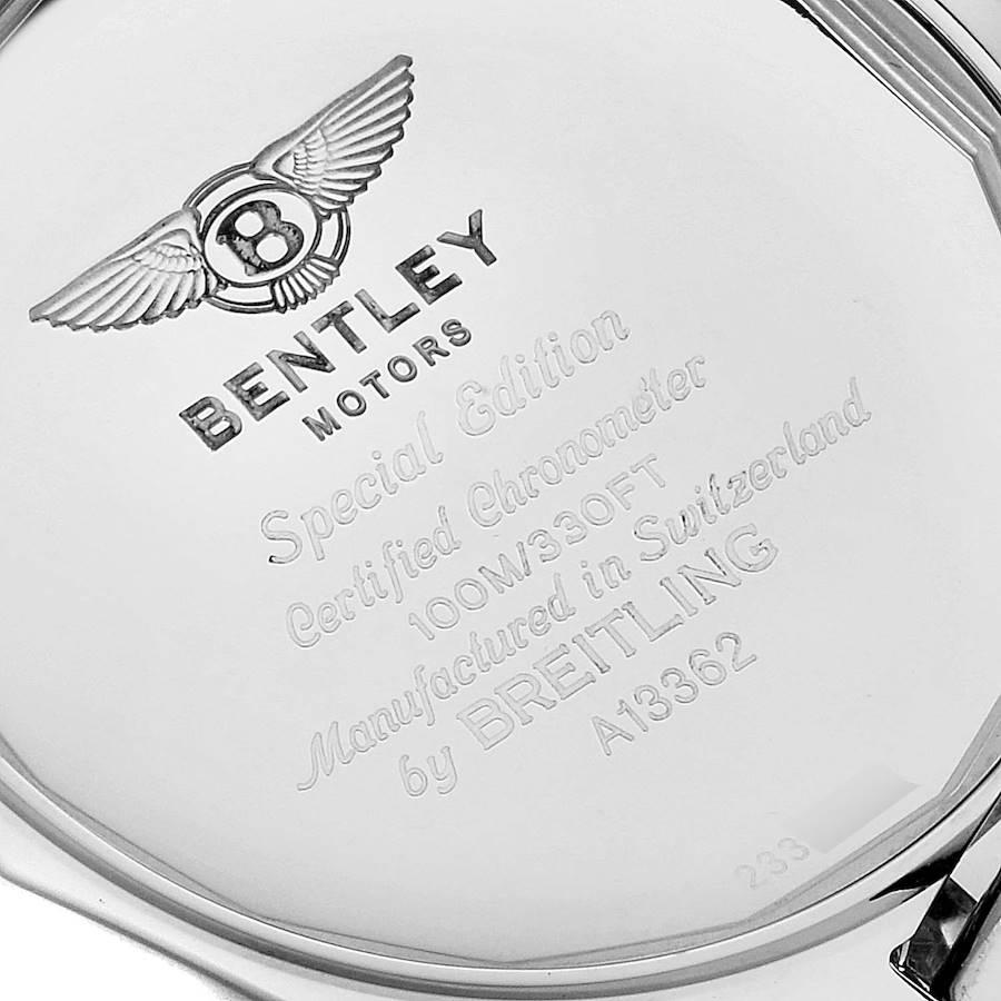 Breitling Bentley Motors GT Burgundy Dial Mens Watch A13362 Box Papers SwissWatchExpo