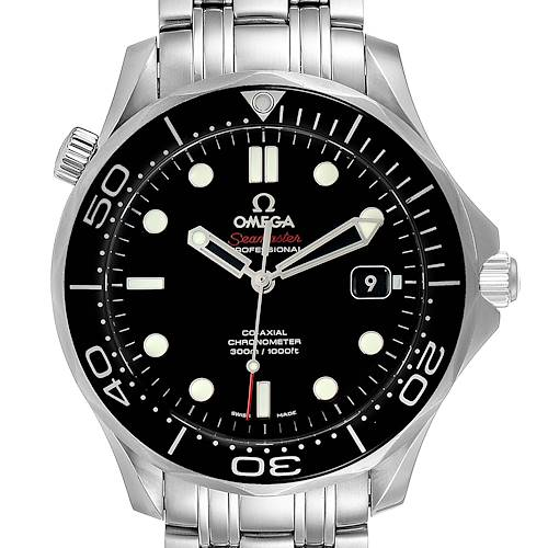 Photo of Omega Seamaster 40 Co-Axial Black Dial Mens Watch 212.30.41.20.01.003 Box Card