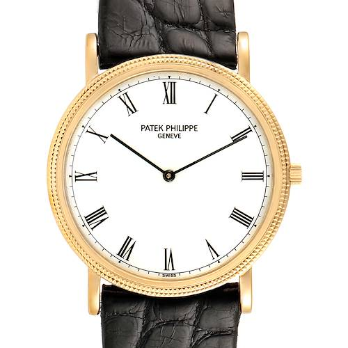 Photo of Patek Philippe Calatrava 18k Yellow Gold Mens Watch 3520 Papers