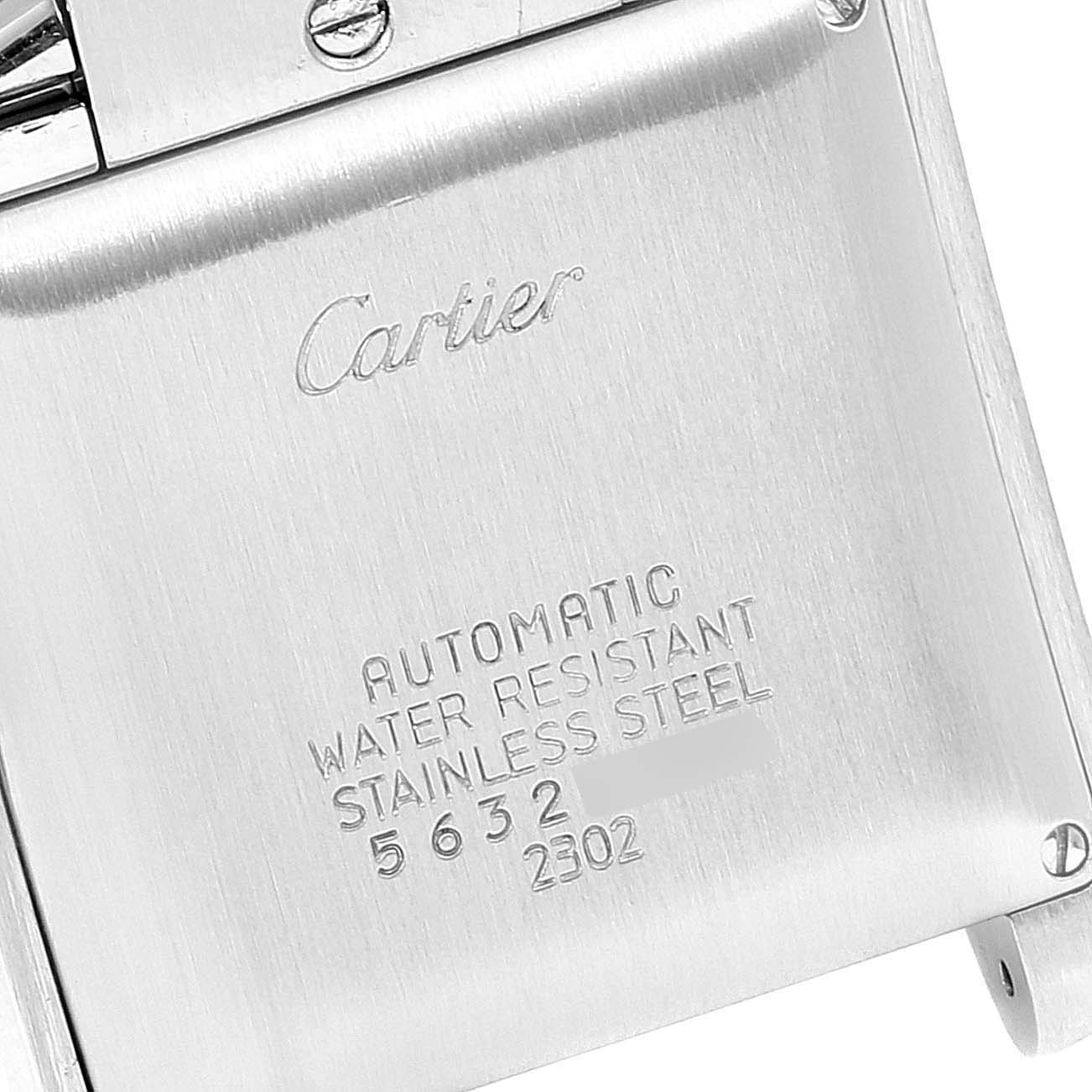 Cartier Tank Francaise Steel Yellow Gold Large Unisex Watch W51005Q4 Box SwissWatchExpo