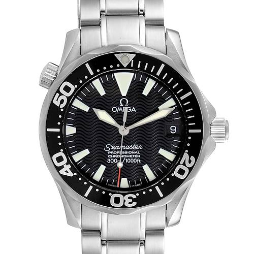 Photo of Omega Seamaster 36mm Midsize Black Wave Dial Steel Watch 2252.50.00 Card