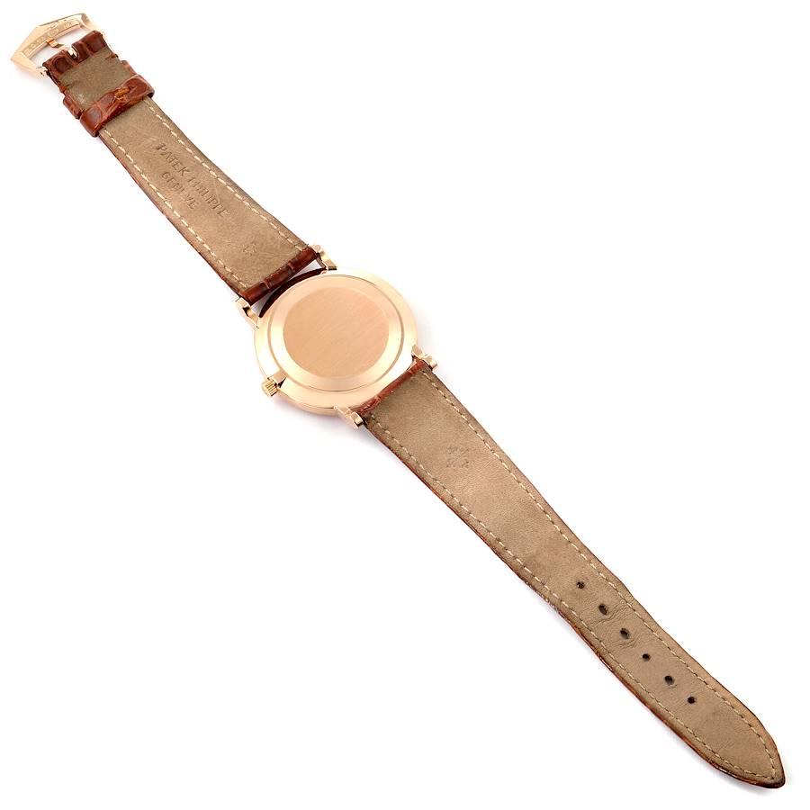 Patek Philippe Calatrava Officier Rose Gold Mens Watch 5022 Box Papers SwissWatchExpo