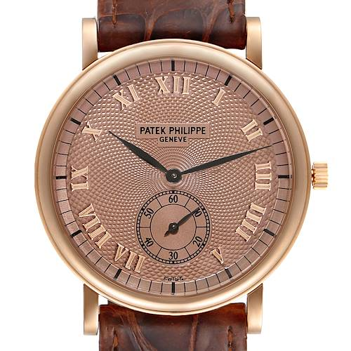 Photo of Patek Philippe Calatrava Officier Rose Gold Mens Watch 5022 Box Papers
