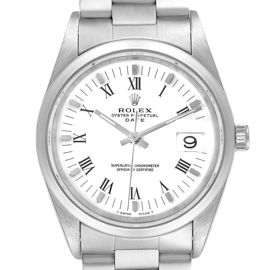 Rolex Date Domed Bezel Oyster Bracelet Steel Mens Watch 15200 SwissWatchExpo