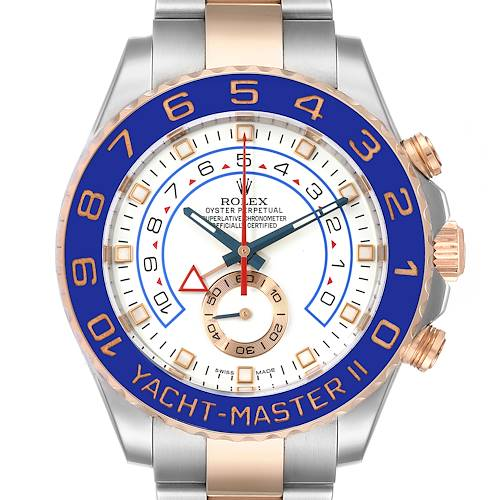 Photo of Rolex Yachtmaster II Rolesor EveRose Gold Steel Mens Watch 116681 Box