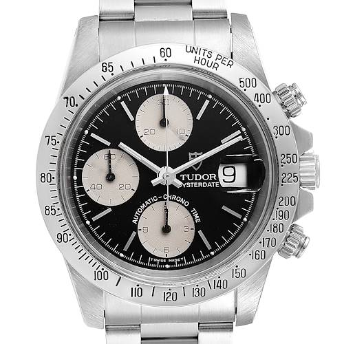 Photo of Tudor Prince Oysterdate Black Dial Chronograph Mens Watch 79180