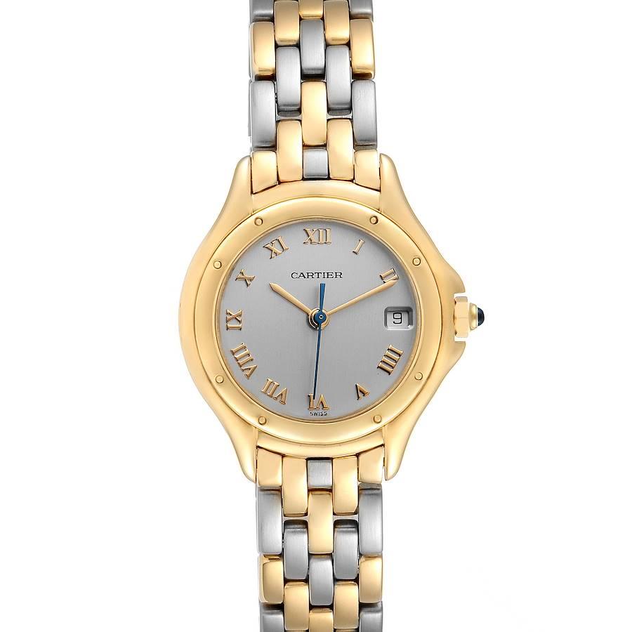 Cartier Cougar 18K Yellow Gold Steel Ladies Watch 117000 SwissWatchExpo