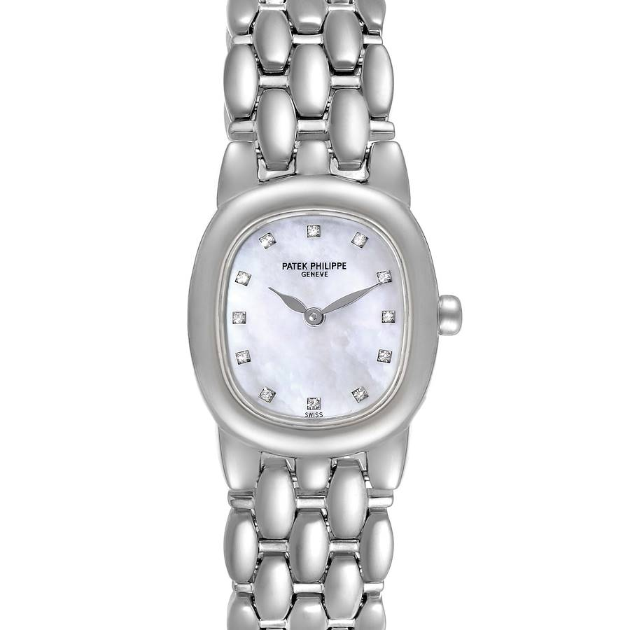 Patek Philippe Golden Ellipse White Gold Diamond Ladies Watch 4830 SwissWatchExpo