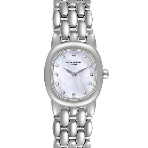 Patek Philippe Golden Ellipse White Gold Diamond Ladies Watch 4830