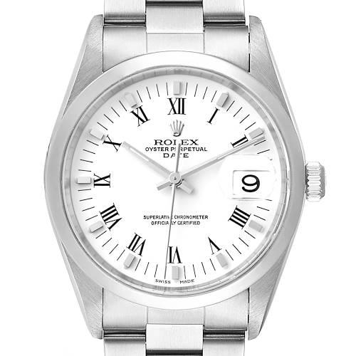 Photo of Rolex Date Domed Bezel Oyster Bracelet Steel Mens Watch 15200