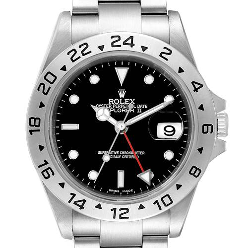 Photo of Rolex Explorer II 40mm Black Dial Parachrom Hairspring Mens Watch 16570