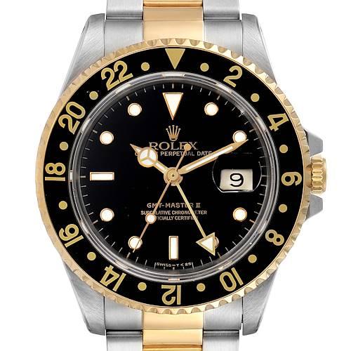 Photo of Rolex GMT Master II Yellow Gold Steel Jubilee Bracelet Mens Watch 16713