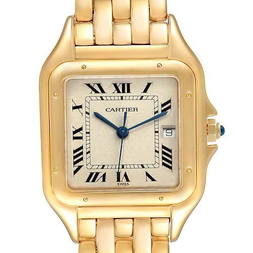 Photo of Cartier Panthere XL Blue Sapphire Yellow Gold Unisex Watch W25014B9 Box
