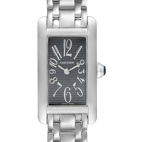 Photo of Cartier Tank Americaine Grey Dial 18K White Gold Ladies Watch 1713
