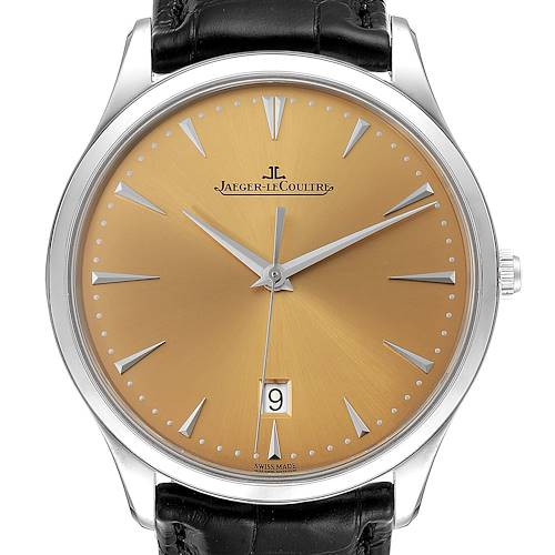 Photo of Jaeger Lecoultre Master Ultra Thin Mens Watch 174.8.37.s Q1288430 Unworn