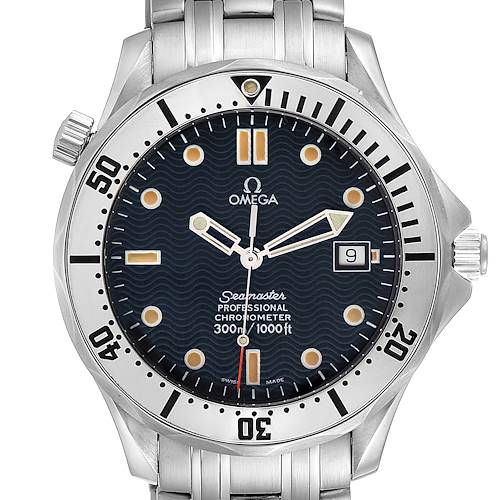 Photo of Omega Seamaster 41mm James Bond Blue Dial Steel Watch 2532.80.00 Card