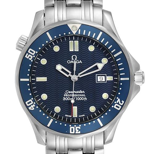 Photo of Omega Seamaster 41mm James Bond Blue Dial Steel Watch 2541.80.00