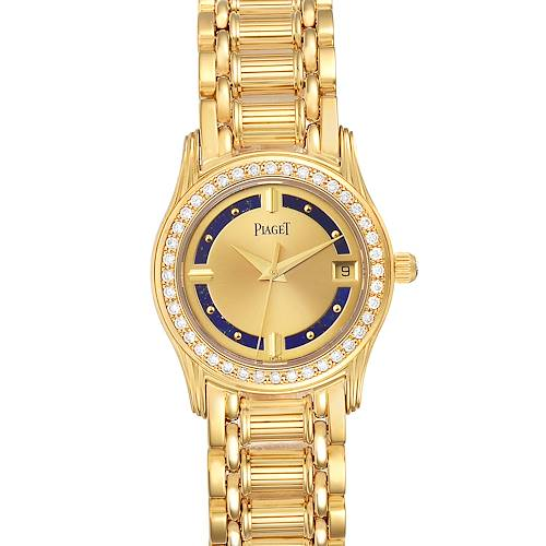 Photo of Piaget Polo Yelow Gold Lapis Lazuri Dial Diamond Ladies Watch 22005