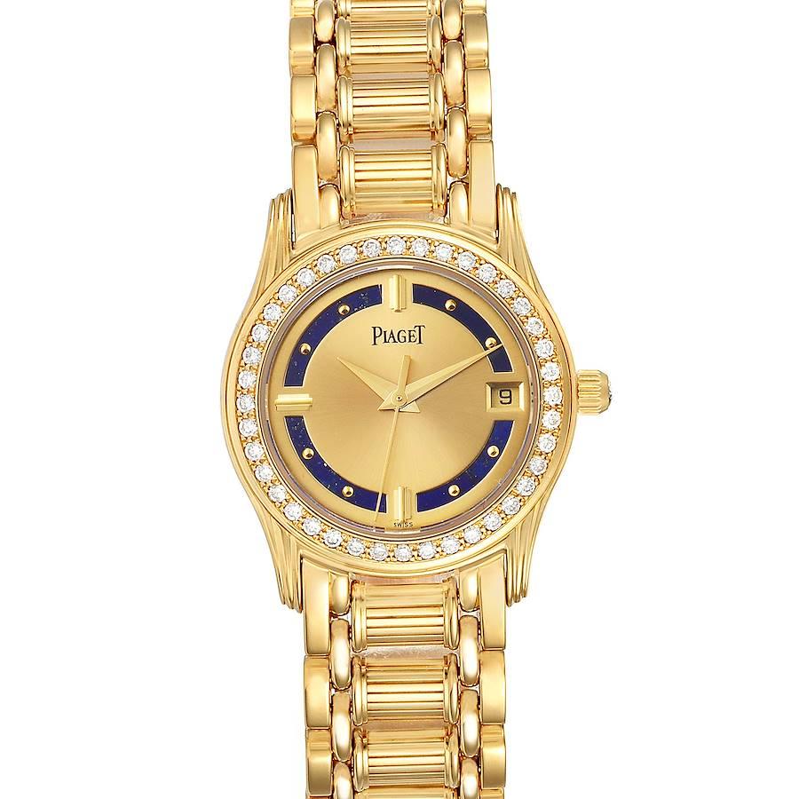 Piaget Polo Yelow Gold Lapis Lazuri Dial Diamond Ladies Watch 22005 SwissWatchExpo