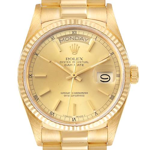 Photo of Rolex President Day-Date 36mm Yellow Gold Mens Watch 18038 Box