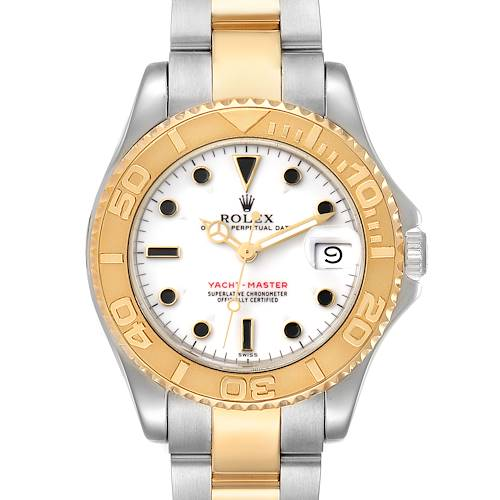 Photo of Rolex Yachtmaster 35 Midsize White Dial Steel Yellow Gold Watch 68623