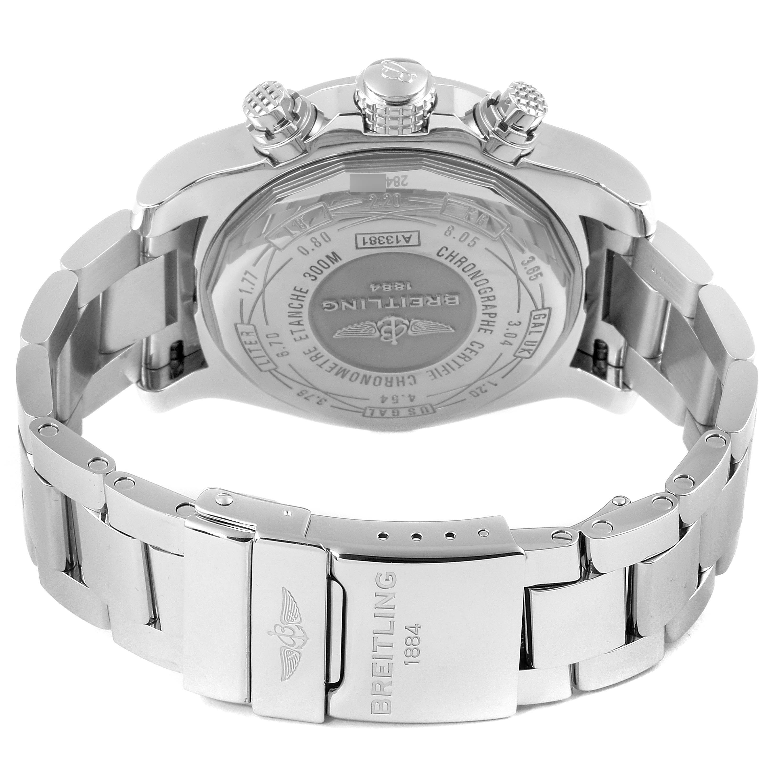Breitling Super Avenger Mother of Pearl Special Edition Mens Watch A13381 SwissWatchExpo