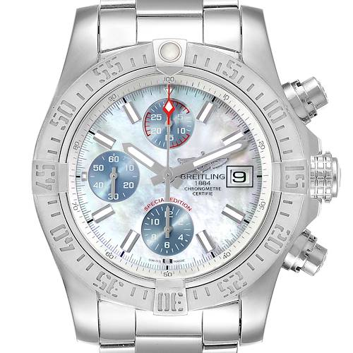 Photo of Breitling Super Avenger Mother of Pearl Special Edition Mens Watch A13381