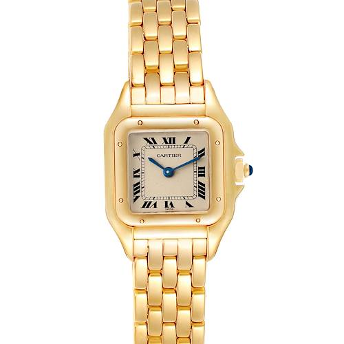 Photo of Cartier Panthere Small Yellow Gold Silver Dial Ladies Watch W25022B9 Add + 1 Link
