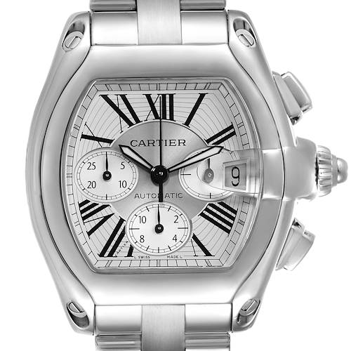 Photo of Cartier Roadster XL Chronograph Automatic Mens Watch W62019X6 Box