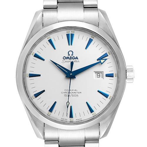 Photo of Omega Seamaster Aqua Terra Blue Hands Steel Mens Watch 2502.33.00