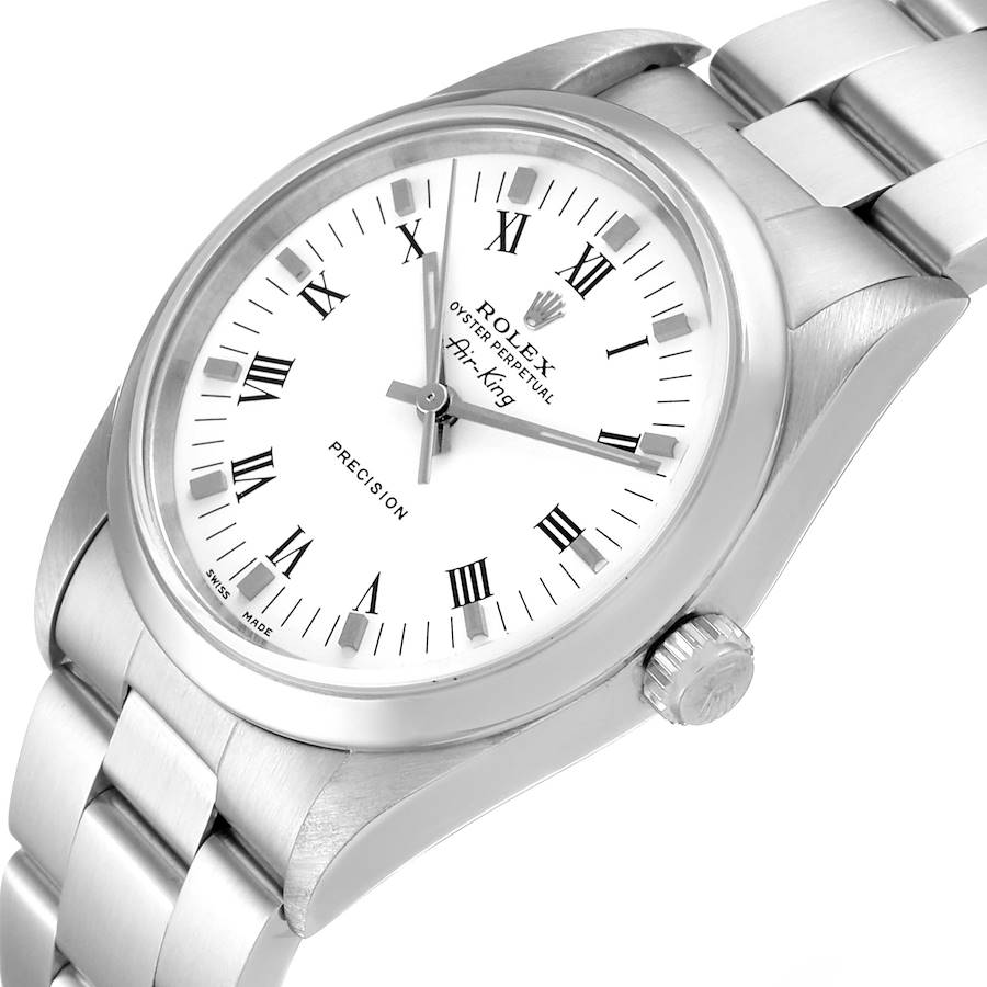 Rolex Air King 34mm White Dial Domed Bezel Mens Watch 14010 Box SwissWatchExpo
