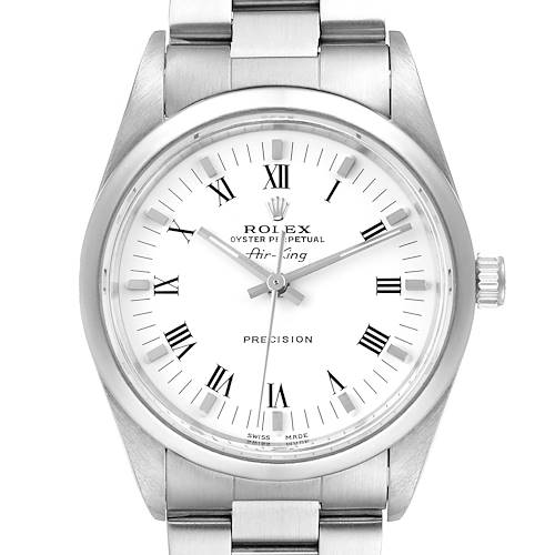 Photo of Rolex Air King 34mm White Dial Domed Bezel Mens Watch 14000 Box
