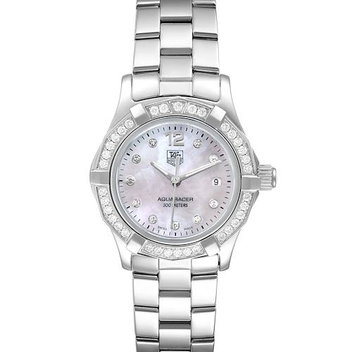 Photo of TAG Heuer Aquaracer Mother of Pearl Diamond Ladies Watch WAF1416