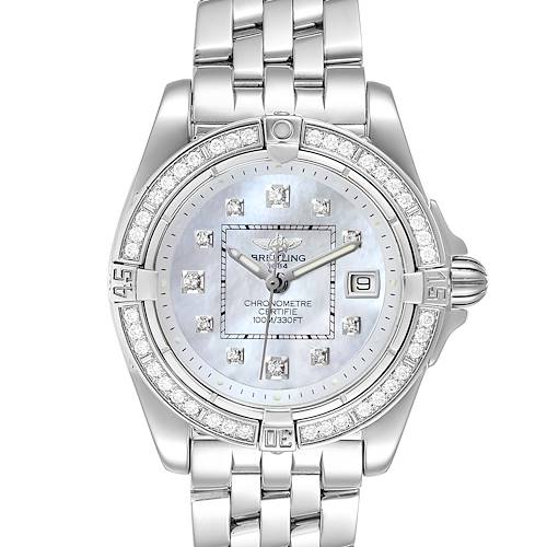 Photo of Breitling Cockpit Mother of Pearl Diamond Ladies Watch A71356