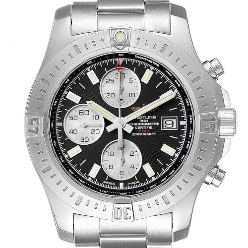 Photo of Breitling Colt Black Dial Stainless Steel Mens Watch A13388 Box