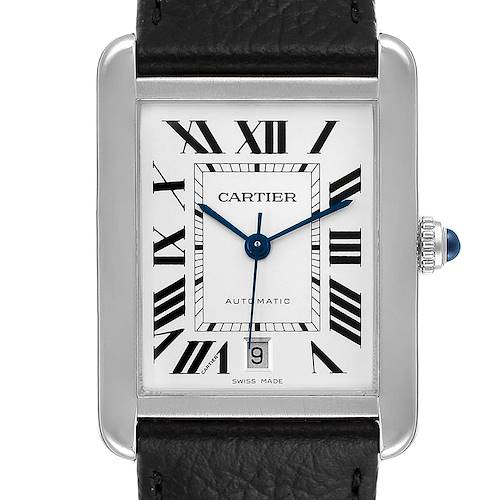 Photo of Cartier Tank Solo XL Automatic Date Stainless Steel Mens Watch W5200027 Box