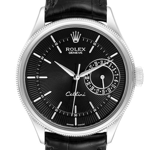 Photo of Rolex Cellini Date 18K White Gold Automatic Mens Watch 50519 Box Papers
