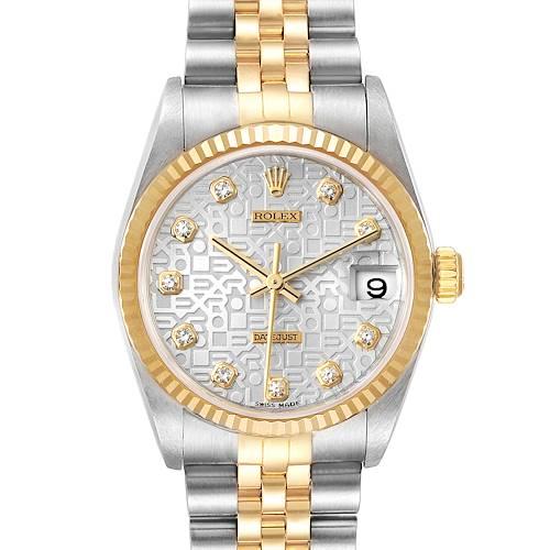 Photo of Rolex Datejust Midsize Steel Yellow Gold Diamond Ladies Watch 78273 Box