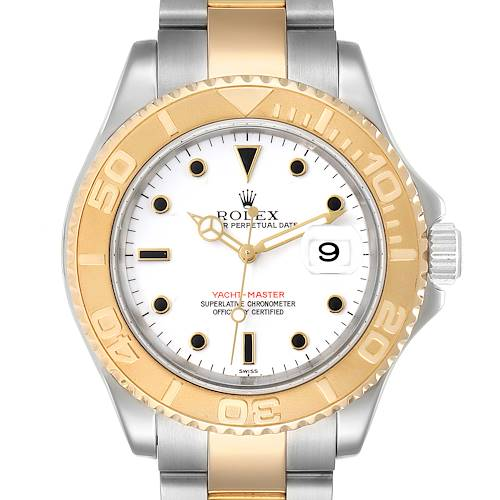Photo of Rolex Yachtmaster White Dial Steel Yellow Gold Mens Watch 16623 Box