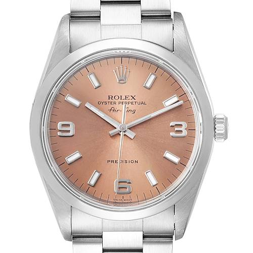 Photo of Rolex Air King 34 Salmon Dial Domed Bezel Steel Unisex Watch 14000 Box