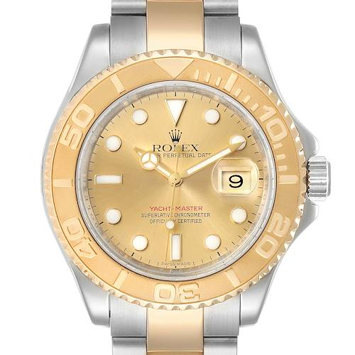 Photo of Rolex Yachtmaster Steel 18K Yellow Gold Mens Watch 16623 Box