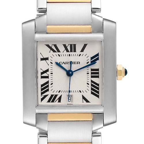 Photo of Cartier Tank Francaise Steel Yellow Gold Large Unisex Watch W51005Q4 Box