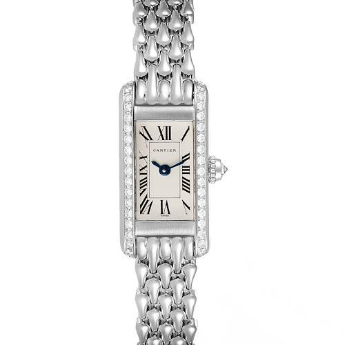 Photo of Cartier Tank Louis Mini White Gold Diamond Ladies Watch 1381