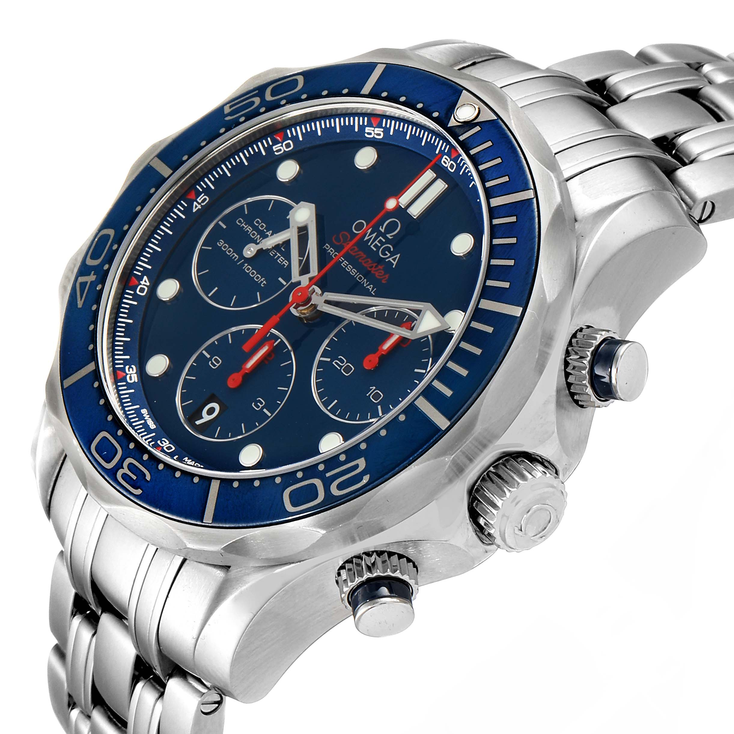 Omega Seamaster Diver 300M 44mm Watch 212.30.44.50.03.001 Box Papers SwissWatchExpo