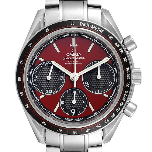 Photo of Omega Speedmaster Racing Red Chronograph Mens Watch 326.30.40.50.11.001