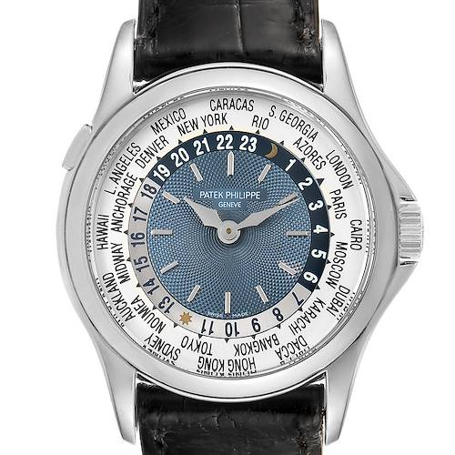 Photo of Patek Philippe World Time Complications Platinum Watch 5110 Box Papers