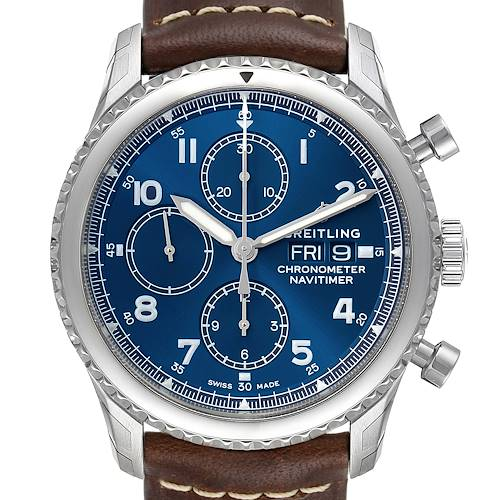 Photo of Breitling Navitimer Blue Dial Chronograph Steel Mens Watch A13314 Unworn