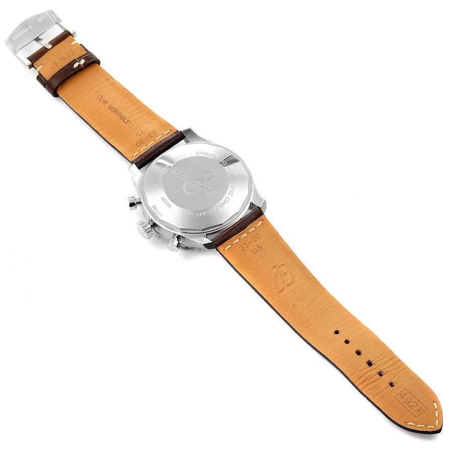Breitling Navitimer Blue Dial Chronograph Steel Mens Watch A13314 Unworn SwissWatchExpo