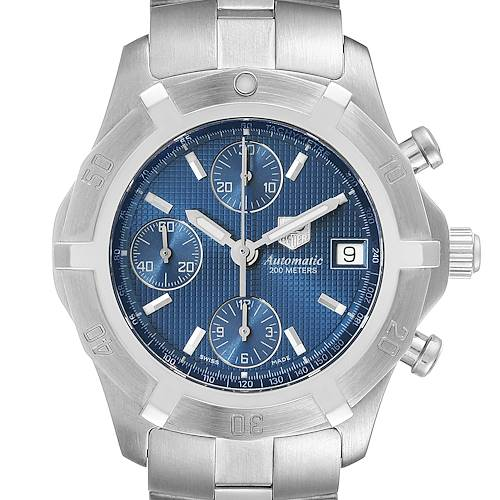 Photo of Tag Heuer Exclusive Blue Dial Steel Mens Watch CN2112